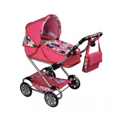 NEW BABY Veronika játék babakocsi - rózsaszín Előnézet