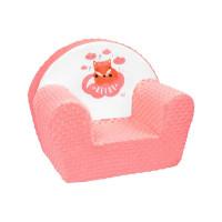 New Baby Minky Róka gyerekfotel - lazacszín