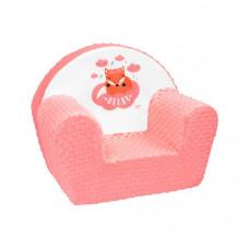 New Baby Minky Róka gyerekfotel - lazacszín Előnézet