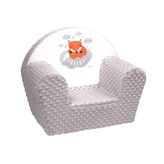 New Baby Minky Róka gyerekfotel - szürke