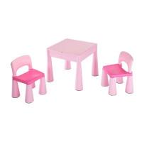 New Baby gyerekasztal székkel - rózsaszín