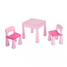 New Baby gyerekasztal székkel - rózsaszín Előnézet