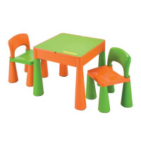 New Baby gyerekasztal székkel - narancssárga/zöld