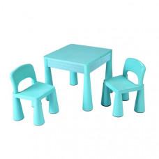 New Baby gyerekasztal székkel - világos kék Előnézet