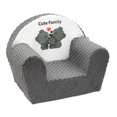 New Baby Minky Cute Family gyerekfotel - szürke Előnézet