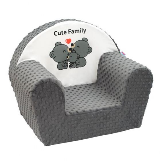 New Baby Minky Cute Family gyerekfotel - szürke