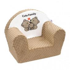 New Baby Minky Cute Family gyerekfotel - Cappuccino Előnézet