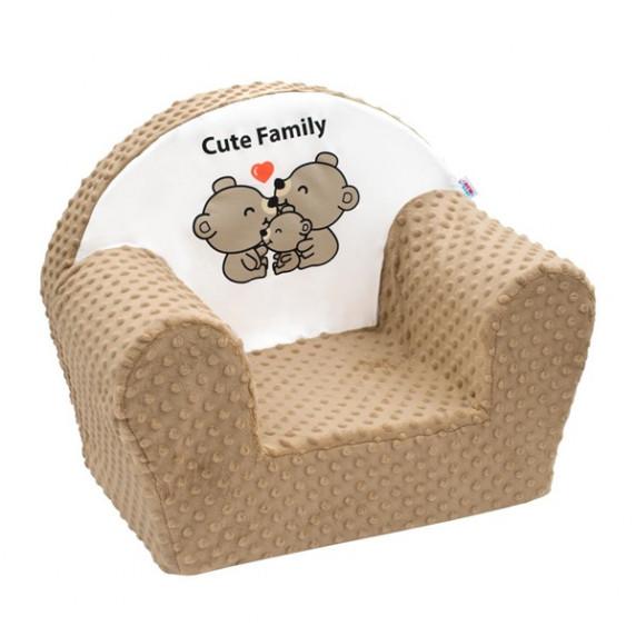 New Baby Minky Cute Family gyerekfotel - Cappuccino
