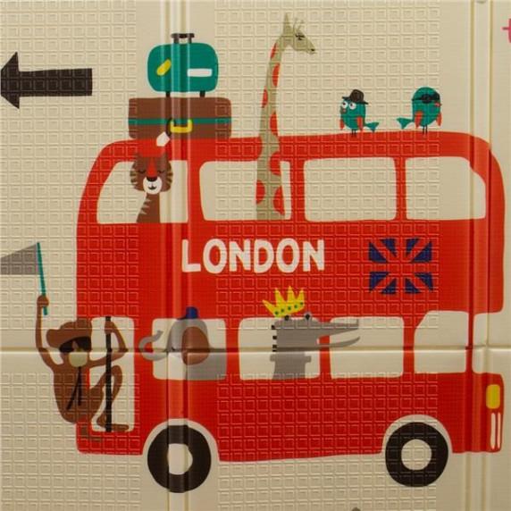 PlayTo multifunkciós habszivacs játszószőnyeg - London