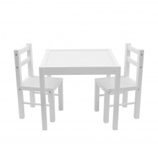 Gyerek fa asztal székekkel New Baby PRIMA - Fehér Előnézet