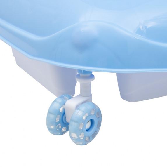 Bébikomp kormánykerékkel Baby Mix - világos kék