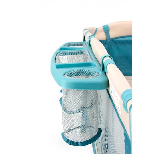 Utazóágy Milly Mally Mirage Deluxe blue toys - kék játékos