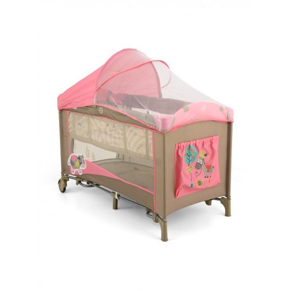 Utazóágy Milly Mally Mirage Deluxe pink cow - rózsaszín tehénkés