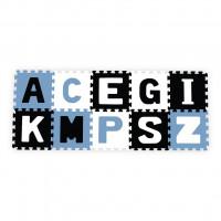 Habszivacs szőnyeg puzzle 30x30 cm 10 darab BABY ONO - fekete, fehér, kék