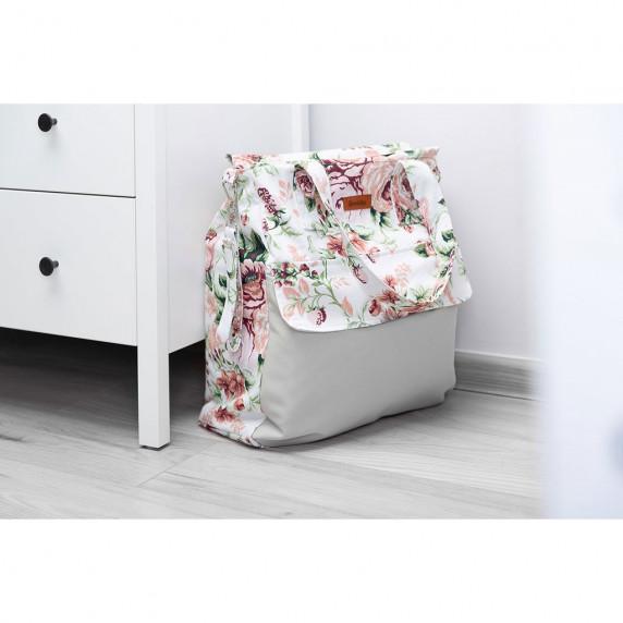 Babakocsi táska Sensillo  - szürke rózsák