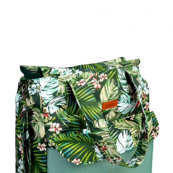 Babakocsi táska Sensillo  - zöld dzsungel