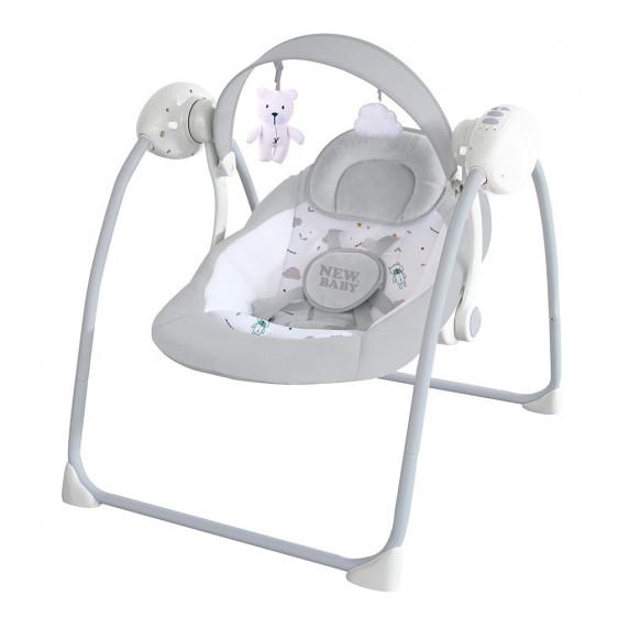 Elektromos babahinta NEW BABY TEDDY - szürke