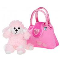 Játék plüss kutya táskában Play To - rózsaszín