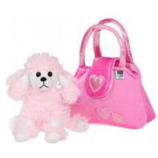 Játék plüss kutya táskában Play To - rózsaszín Előnézet