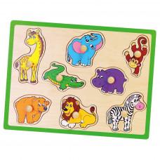 Fa puzzle fogantyúkkal Viga - Zoo Előnézet