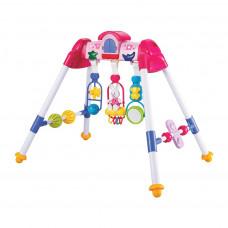 Gyerek fejlesztő babatornáztató állvány BAYO premium - rózsaszín Előnézet