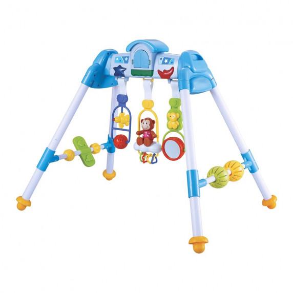 Gyerek fejlesztő babatornáztató állvány BAYO premium - kék