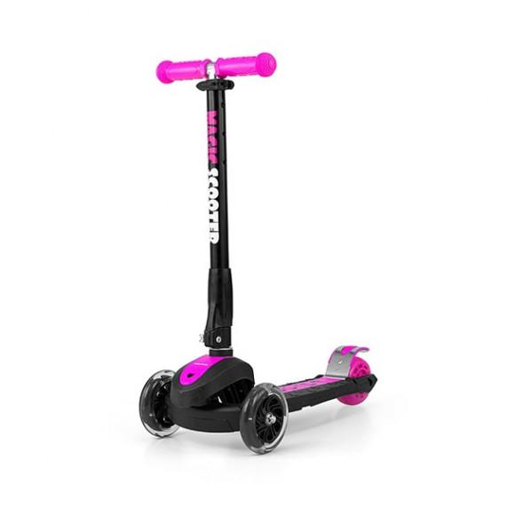 Roller háromkerekű Milly Mally Magic Scooter - rózsaszín