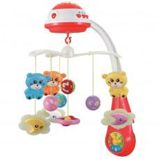 BABY MIX zenélő körforgó kivetítővel Macis -piros Előnézet