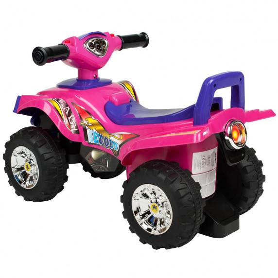 Lábbal hajthatós quad Bayo - rózsaszín