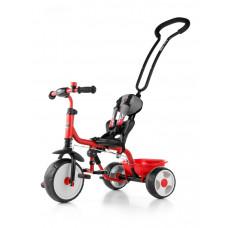 Milly Mally Boby 2015 tricikli tolókarral - piros Előnézet