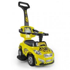 Milly Mally Happy 2az1-ben gyermekjármű  - sárga Előnézet