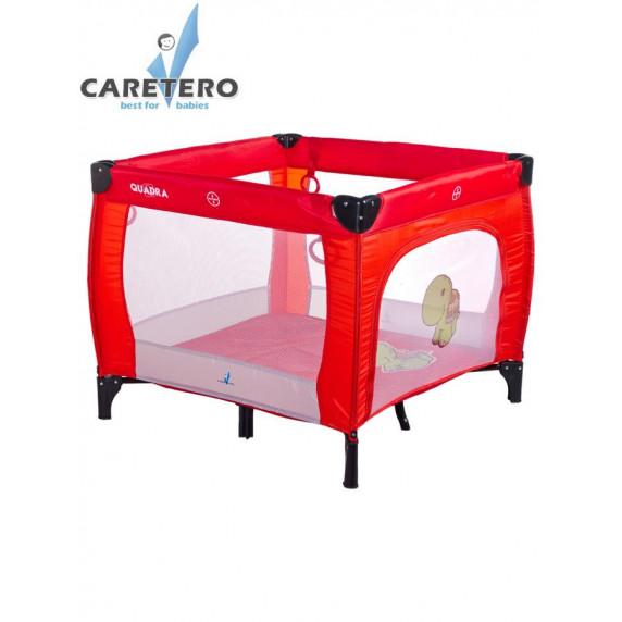 CARETERO Quadra összecsukható utazóágy, járóka - piros