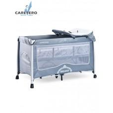 CARETERO Deluxe utazóágy - grey Előnézet