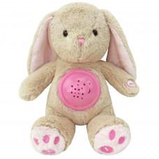 Baby Mix plüss nyuszi projektorral - rózsaszín Előnézet
