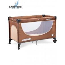 CARETERO Simplo utazóágy - brown Előnézet