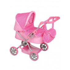 PLAY TO Viola játék babakocsi - világos rózsaszín Előnézet