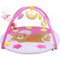 PlayTo játszószőnyeg - Alvó maci rózsaszín