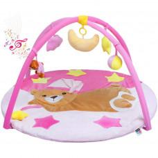 PlayTo játszószőnyeg - Alvó maci rózsaszín Előnézet