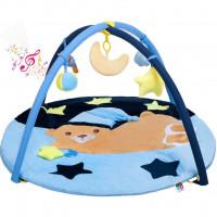 PlayTo játszószőnyeg - Alvó maci kék