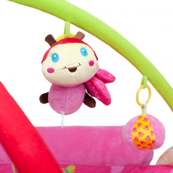 Játszószőnyeg PLAY TO - állatkás rózsaszín