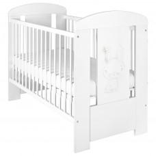 NEW BABY Nyuszis gyermek kiságy standard - fehér