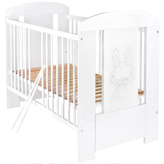 Gyermek kiságy standard NEW BABY Nyuszis - fehér