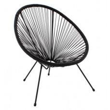 Kerti fotel GARDEN LINE FAT3495 70 x 80 x 39,5 - 86 cm - fekete Előnézet