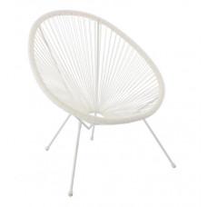 Kerti fotel GARDEN LINE FAT3501 70 x 80 x 39,5 - 86 cm - fehér Előnézet