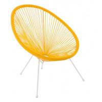 Kerti fotel GARDEN LINE FAT3525 70x80x39,5-86 cm - sárga