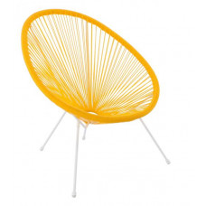 Kerti fotel GARDEN LINE FAT3525 70 x 80 x 39,5 - 86 cm - sárga Előnézet