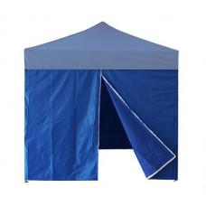InGarden oldalfal ajtóval 3x3 m méretű sátorhoz - kék Előnézet