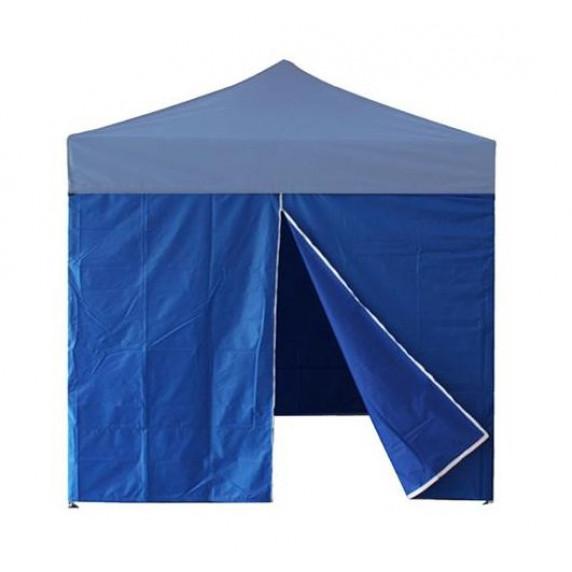 InGarden oldalfal ajtóval 3x3 m méretű sátorhoz - kék