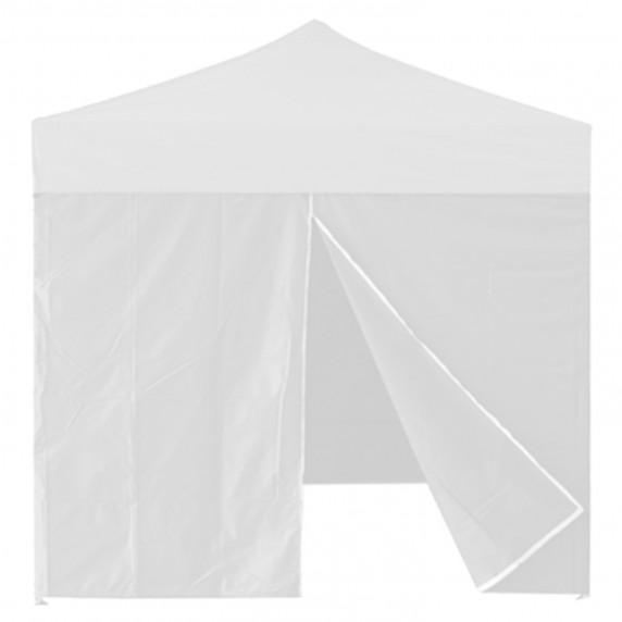 InGarden oldalfal ajtóval 3x3 m méretű sátorhoz - fehér