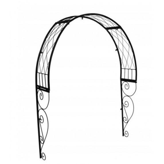 GARDEN LINE kerti fém boltív kapu fölé 110 x 21 x 106 cm